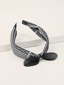 Bow Knot Striped Headband