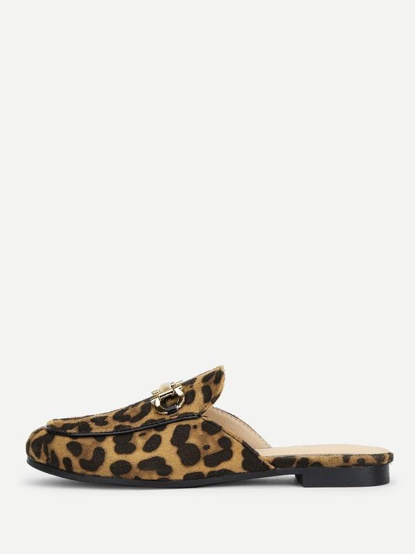 92859d8992 Leopard Print Mule Flats