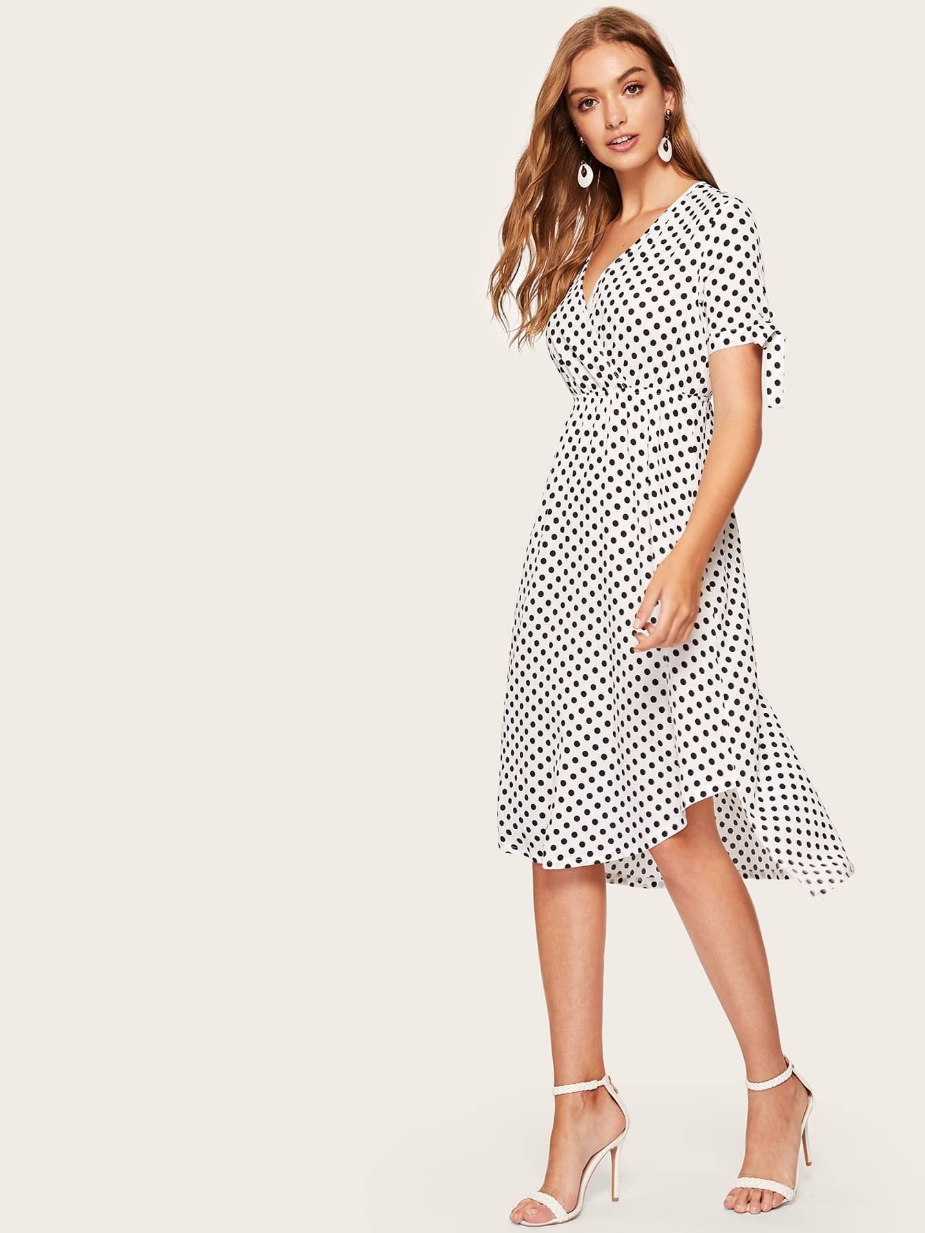 Mädchen Kleid mit Punkte Muster | SHEIN