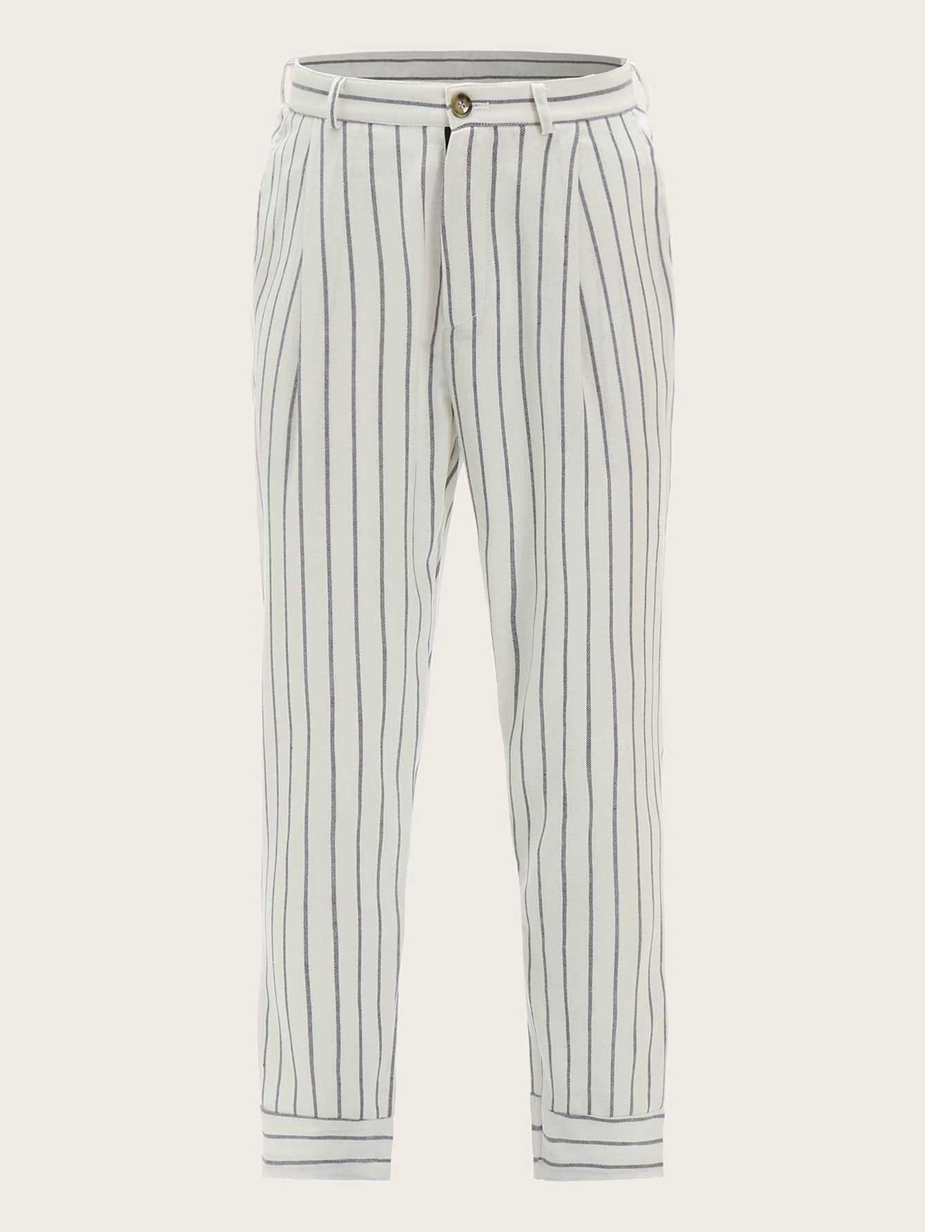 Guys Slant Pocket Striped Pants by Romwe