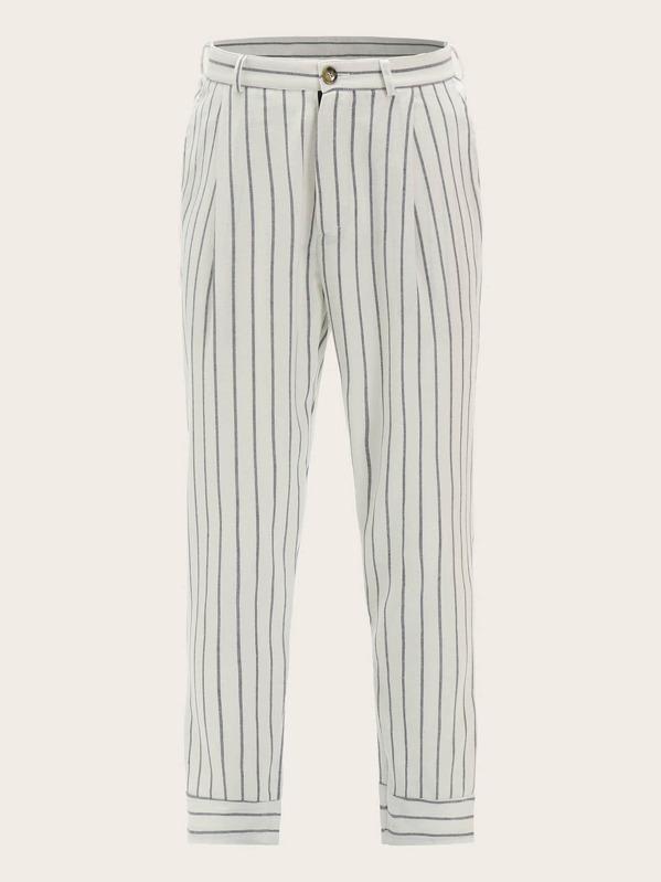 07d28f1a74 Men Slant Pocket Striped Pants | SHEIN