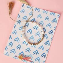 Faux Pearl & Tassel Detail Beaded Bracelet 1pc