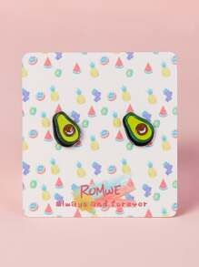 Avocado Shaped Stud Earrings 1pair