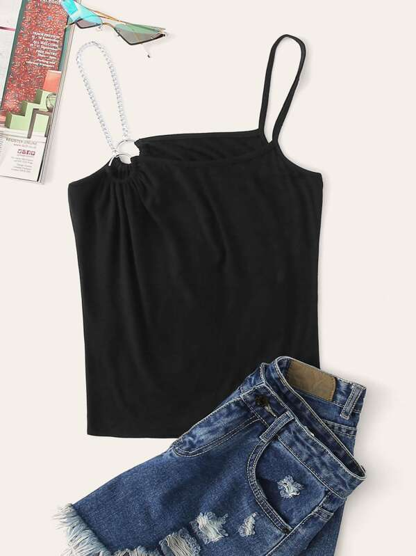 8248c0410dc One Side Chain Strap Cami Top | SHEIN IN