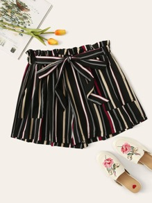 Plus Striped Knot Shorts