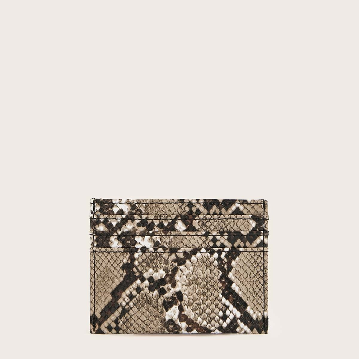 Kartenhalter mit Schlangenleder Muster