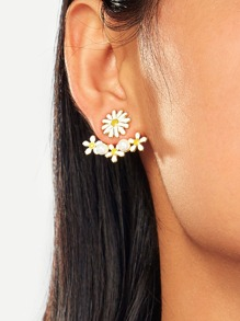 Daisy Stud Swing Earrings 1pair