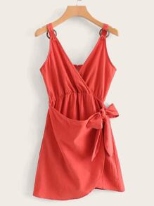 Ring Loop Self Knot Wrap Sundress
