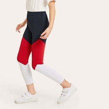 Girls Color Block Leggings