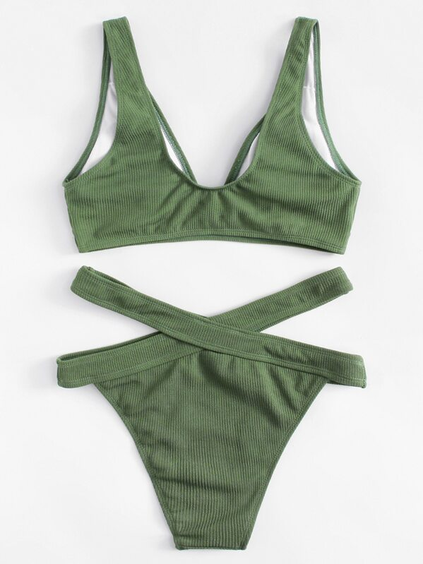 0a9d723a6cd9 Bikini con tiras cruzadas en la cintura | SHEIN ES
