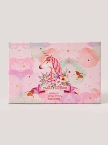 Unicorn Print Medium Gift Storage Box 1pc