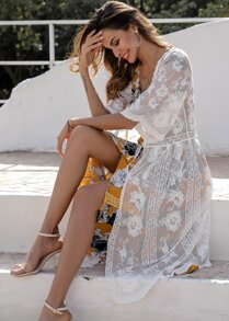 Embroidery Sheer Cover Up
