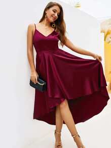 Dip Hem Tie Back Cami Dress
