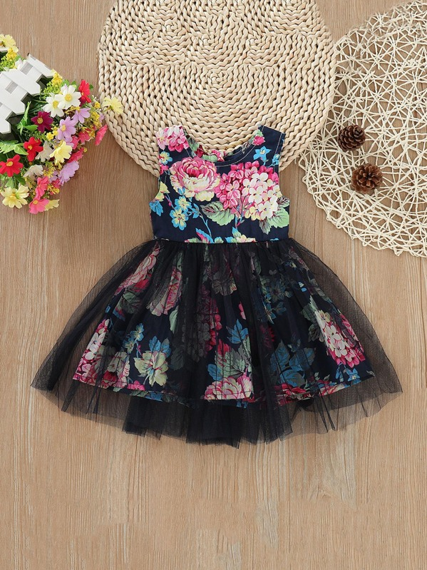 35680e97c Toddler Girls Floral Tutu Tank Dress | SHEIN UK