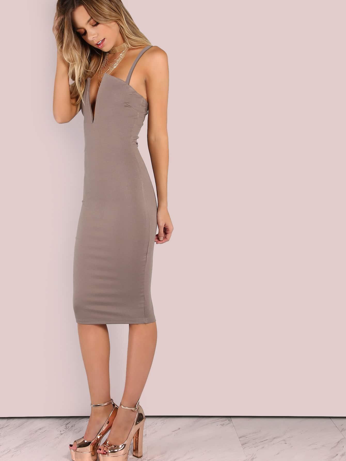 8b2a458d501 Cheap V Plunge Cami Midi Dress for sale Australia