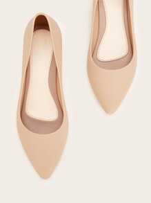 Point Toe Slip On Wedge Shoes