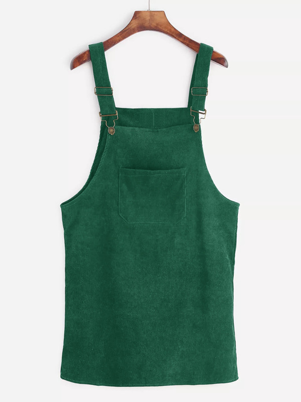 387e2464bce Front Pocket Corduroy Overall Dress