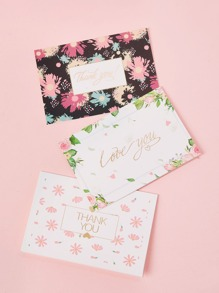 Flower Print Greeting Card 3sheets