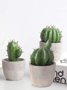 Artificial Potted Cactus 1pc