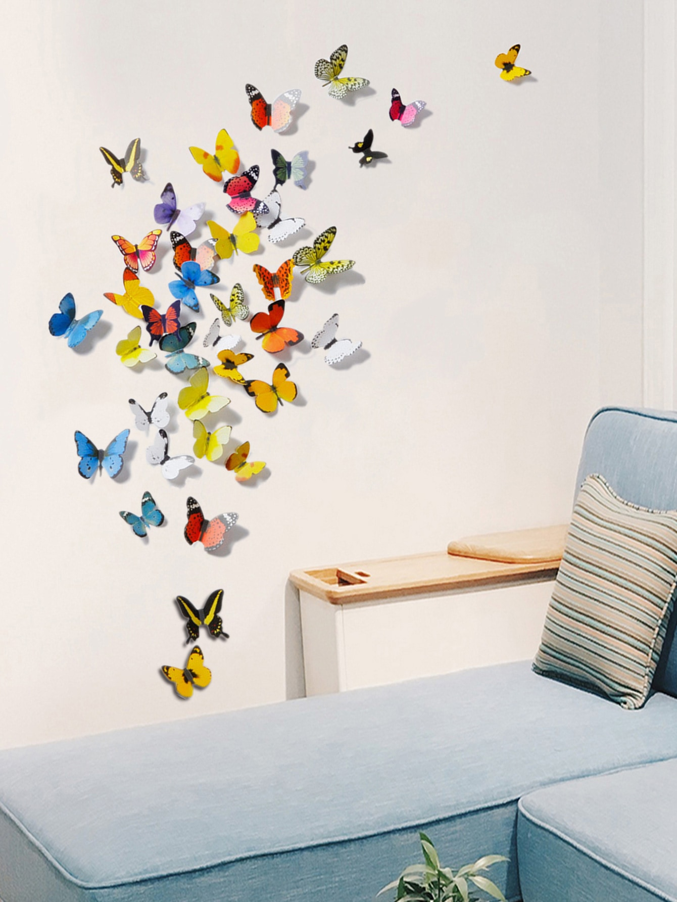 25x57 cm-ref Stickers wall sticker-butterfly trailed a079