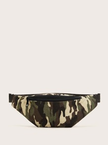Camouflage Pattern Zipper Fanny Pack