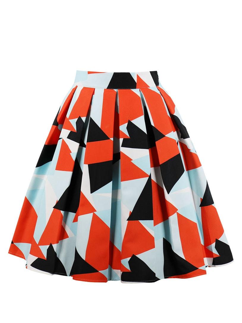 50s велосипедная юбка с графическим принтом thumbnail
