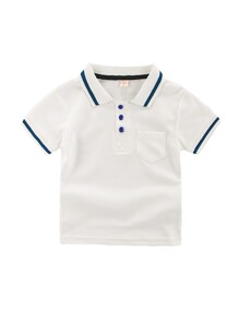 Toddler Boys Contrast Trim Polo Shirt