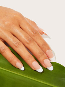Two Tone Fake Nail With Double Side Tape 25pack
