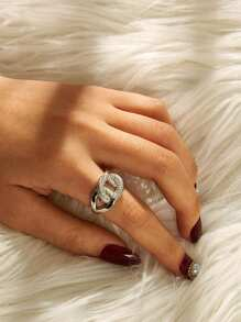 Link Detail Rhinestone Ring 1pc