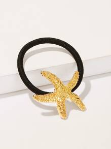 Metallic Starfish Decor Hair Tie