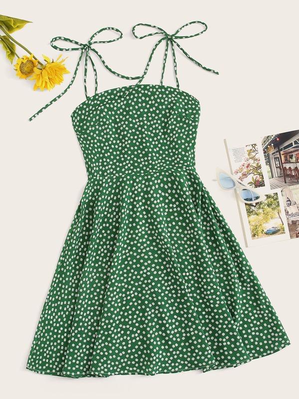 d42692b87c Ditsy Floral Zip Back Cami Dress | SHEIN