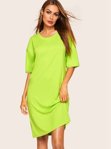 Neon Green Drop Shoulder Night Dress
