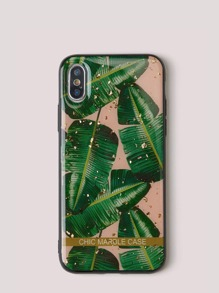 Tropical Leaf Print iPhone Case