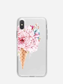 Flower Shaped Ice Cream Pattern iPhone Case