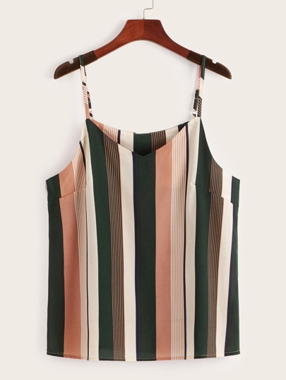 Plus Striped Cami Top