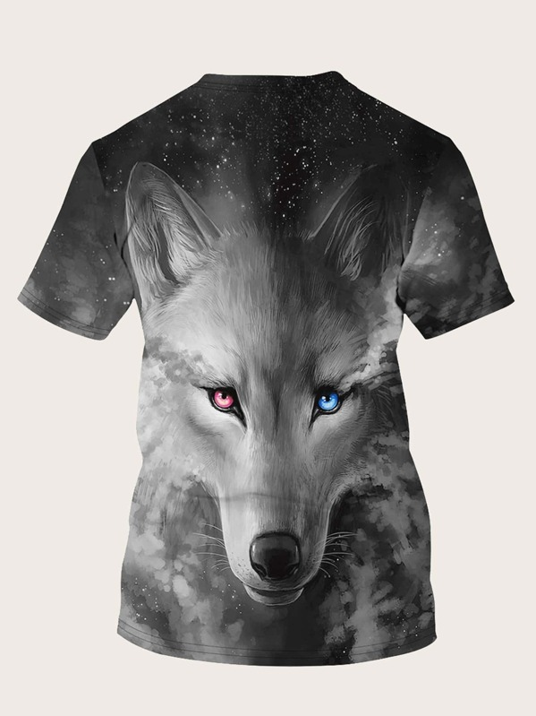 4bdae6f4c6 Cheap Men 3D Wolf Print Tee for sale Australia | SHEIN