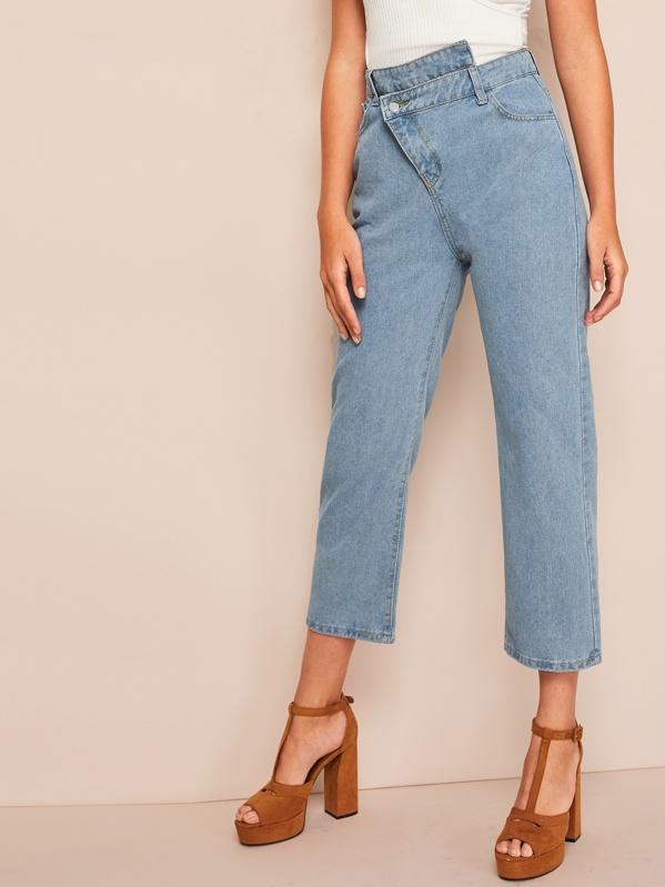 0de6a48221 Asymmetrical Straight Leg Jeans