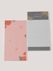Flower Print Memo Pad 2packs