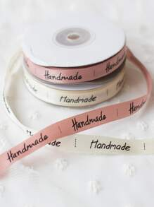 Slogan Print DIY Decorative Ribbon 1roll