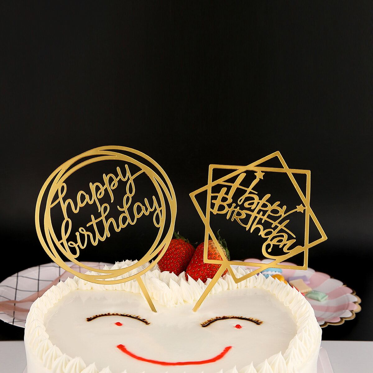 SHEIN coupon: Birthday Cake Topper Decoration 1pc