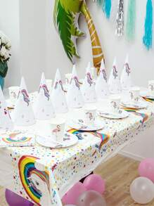 Unicorn Print Disposable Party Tablecloth 1pc