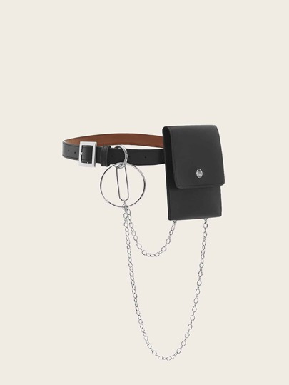Ring And Chain Decor Fanny Pack