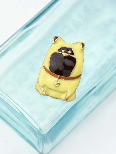 Yellow Cute Cartoon Brooch