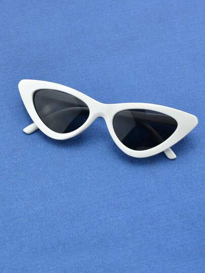 Gafas de sol de mujer Sexy White Shadow Cat Eye Uv400