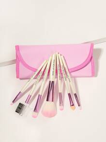 Soft Makeup Brush Set With Pouch 8pack