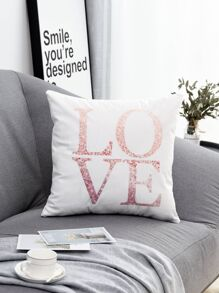 Letter Print Cushion Cover