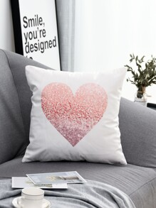 Heart Print Cushion Cover