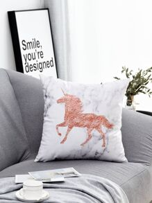 Unicorn Print Cushion Cover