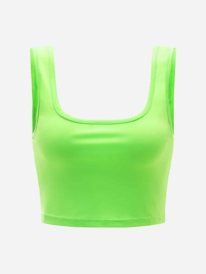 Neon Lime Crop Top
