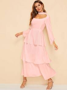 High Waist Tiered Layer Dress